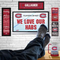 We Love Our Habs Of Montreal, Montreal Canadiens, Sport, Our Love, Dads, Deporte, Excercise, Fathers, Sports