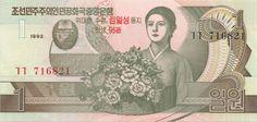 Motivseite: Geldschein-Asien-Nordkorea-원-1-1992
