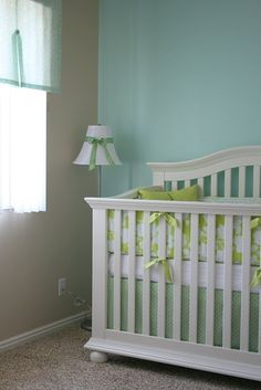 Aqua  and green nursery by penny