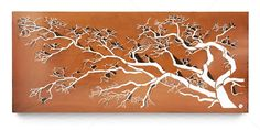 Home :: Outdoor Wall Sculpture :: Laser Cut Steel Wall Art  :: Wall Mounted Rustic Wall Art - Polarize Tree