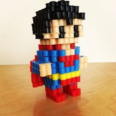 3D Superman perler beads by mutant_x_perience