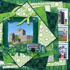 Scrapbooking Layouts ireland   Dunguaire Castle (Ireland) - Two Peas in a Bucket