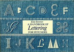 &Stitches: From A to Z: Free Lettering Embroidery patterns