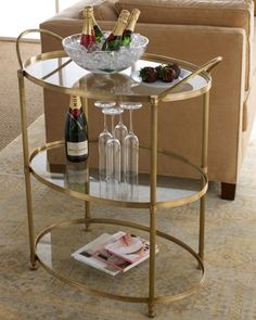 """""""Emory"""" Bar Cart by Arteriors at #Horchow #Home #Decor"""
