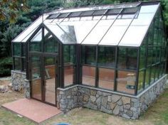 Dream Greenhouse!  16 x 23' reverse gable greenhouse
