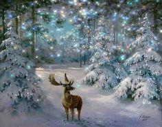 Lovely snowy scene