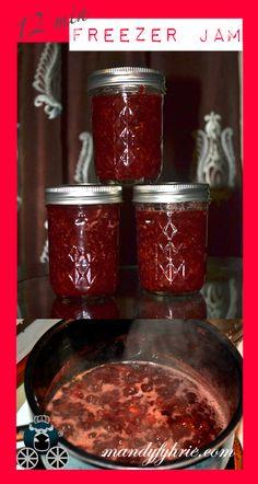 Yummy 12 min. Freezer Jam - Raspberry Strawberry mandyfyhrie.com