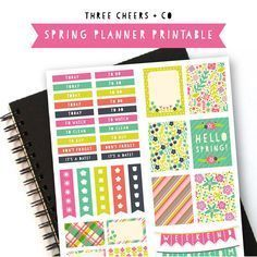 Free Spring Planner Stickers - Three Cheers + Co