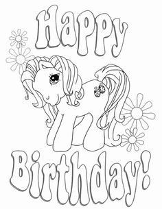 happy birthday printable coloring pages  birthday