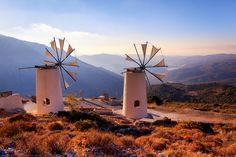 Windmills on the Mountains at Lassithi, Crete, Greece   Flickr - Photo Sharing!