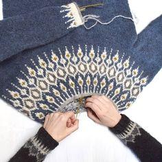Ravelry: Telja pattern by Jennifer Steingass Fair Isle Knitting Patterns, Jumper Patterns, Knitting Charts, Sweater Knitting Patterns, Knitting Designs, Knit Patterns, Free Knitting, Crochet Wool, Crochet Hats