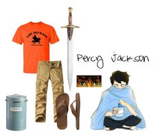 """""""Percy Jackson"""" by littlelupinweasleyspawn ❤ liked on Polyvore featuring Gap, Typhoon, men's fashion and menswear"""