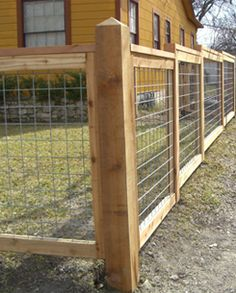 how to build a bull panel fence