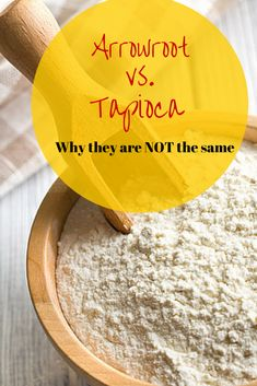 Arrowroot vs taopica* NOTE!!! : If used as a thickener you can sub with cauliflower or onion mash (in some cases almond flour), if used as a binder you can use Gelatin, see another post here :)