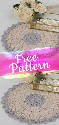 Scalloped Round Doily [CROCHET FREE PATTERN] #crochetfreepattern #freecrochet #crochet2 #pattern #jobcrochet #croche #howtocroche