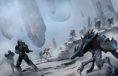 Spartan IVs engage Forerunner forces on Requiem.