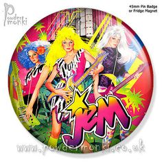"""Jem """"the #misfits"""" ~ pin badge or #fridge magnet [45mm] #retro toys,  View more on the LINK: http://www.zeppy.io/product/gb/2/252272607191/"""