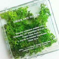 Dries van Noten invitation | http://www.pinterest.com/codeplusform/fashion-week-invites/
