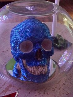 My Greg Quinlivan skull, Ryan, by LED Christmas tree light. Undoubtedly my FAVORITE piece of