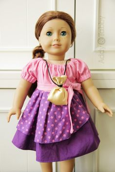 Izzy from Jake and the Neverland Pirates, for American Girl Doll - $30. Made to match girls Izzy dress. Handmade by Addy