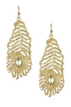 Feather Earrings by Meghan Fabulous on @HauteLook