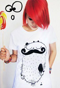 Mr. Moustache Shirt von cute monstR von cute monstR auf DaWanda.com