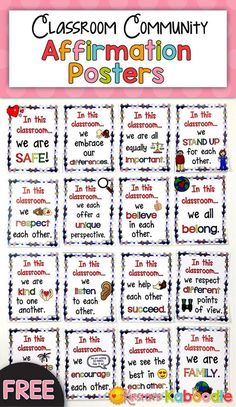 Are you working on creating a kind, compassionate, inclusive classroom environment? Snatch up these FREE posters to display on a bulletin board or in the hallway outside your classroom. These posters can be used at any level and also come with a pri Classroom Rules, Classroom Behavior, Future Classroom, School Classroom, Classroom Organization, Classroom Contract, Classroom Expectations, Classroom Bulletin Boards, Classroom Displays