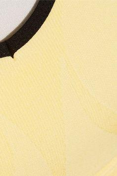 FALKE Ergonomic Sport System - Stretch-jersey Sports Bra - Pastel yellow - x small