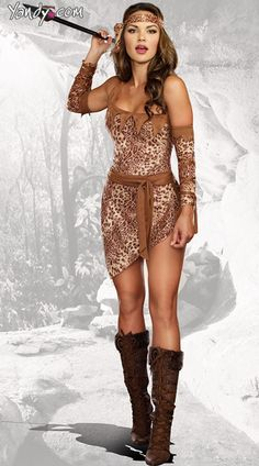 Get in touch with your inner woman with these cave woman costumes. Shop Yandy for all your cave woman halloween costume needs!  sc 1 st  Pinterest & The 106 best tiki costumes images on Pinterest   Costumes Halloween ...