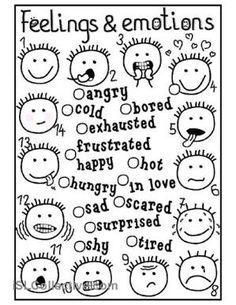 Image result for identifying feelings worksheets for kids
