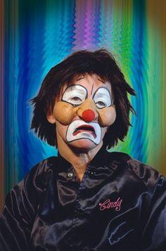 #CindySherman Clown from the Career Retrospective at The Museum of Modern Art. Follow #CindySherman Photography on Pinterest curated by Joseph K. Levene Fine Art, Ltd. http://pinterest.com/JKLFA/Cindy-Sherman-Photography