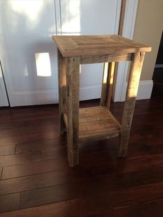 recycled pallet rustic side table and nightstand