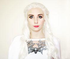 Daenerys Targaryen white dress season 5 cosplay by Cara Cosplay