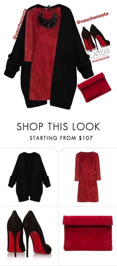 """""""Untitled #730"""" by loo0oove-16 ❤ liked on Polyvore featuring Jitrois, Christian Louboutin, Monies and Lattori"""