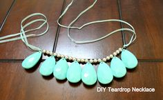 The Cream to My Coffee: Teardrop Necklace DIY