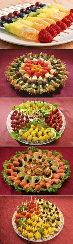 Discover thousands of images about This looks sooo good I have to prepare a fruit platter JUST LIKE THIS at least once this summer! Finger Food Appetizers, Appetizer Recipes, Fruit Platter Designs, Amazing Food Art, Veggie Tray, Food Decoration, Food Platters, Appetisers, Party Snacks
