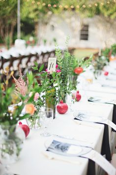 Long #reception table Photography: Paperlily Photography  Read More: http://www.stylemepretty.com/2014/01/20/oak-hill-the-martha-berry-museum-wedding/