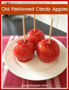Old Fashioned Candy Apples Recipe