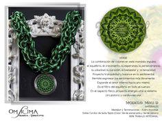 Mandala  Accesorios con Energía  Omsrima Copyright © 2013   Mas Informacion y pedidos onshirman@gmail.com Facebook / Omsrima Mandala Energia Vital Jewellery Crochet Earrings, Facebook, Accessories, Colors