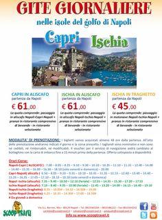 Escursioni giornaliere nelle isole del Golfo di Napoli - Capri ed Ischia. Info su www.scooptravel.it