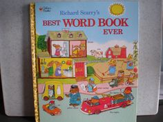 Vintage 1990's Children's Book -  Richard Scarry's Best Word Book Ever by 20thCenturyCool on Etsy