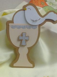 First Communion Card , FREE Confetti , Blank inside , kids , boy , girl , church , cross , faith , god , silver by patchandpeanut on Etsy