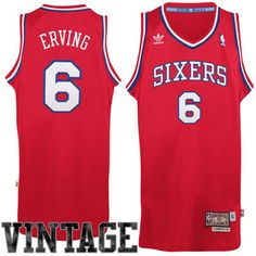 a5d5ed451 Mens Philadelphia 76ers Julius Erving adidas Red Hardwood Classics Soul  Swingman Throwback Jersey Adidas Red