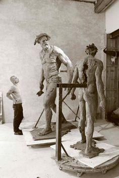 Christophe Charbonnel Photos Originales, Atelier D Art, Art Sculpture, Art Studios, Artist At Work, Traditional Art, Love Art, Amazing Art, Statues