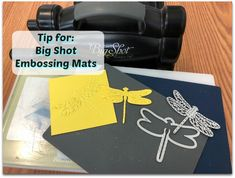Embossing Mats, Tip Video with Frenchie Stamps, Detailed Dragonfly, Flourish thinlits, Stampin'Up!