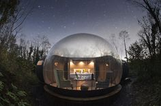While transparent domes have sprung up in glamping destinations worldwide, Finn Lough sets itself apart from the pack with extra touches of luxury. Tagged: Exterior and Dome RoofLine. Enchanting Bubble Domes in the Irish Woods. Places To Stay In Ireland, Places To Go, Journey, Glamping, Lac Saint Jean, Bubble Tent, Bubble House, Ireland Travel, Stars