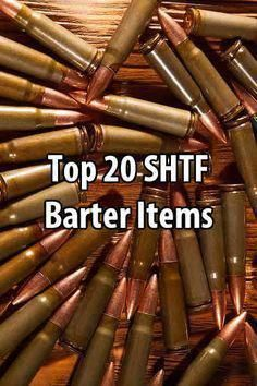 Tin Hat Ranch published a list of 20 SHTF barter items. Most of these items are things you should have on hand anyway, but you might want to stock extra. Urban Survival, Wilderness Survival, Survival Knife, Survival Prepping, Emergency Preparedness, Survival Gear, Survival Skills, Survival Books, Outdoor Survival
