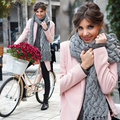 Pretty fall look today on my blog: http://themysteriousgirl.ro/2014/11/grey-and-pink/