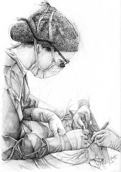 Cirujana Surgeon by el-Sheriff on DeviantArt – Drawings – emedical Nurse Drawing, Doctor Drawing, Medical Drawings, Medical Art, Anatomy Art, Greys Anatomy, Medical Photography, Medical Wallpaper, Biology Art