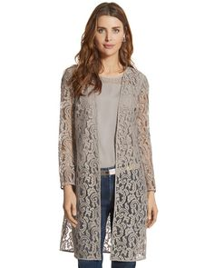 Chico's Exquisite Lace Duster Jacket #chicos